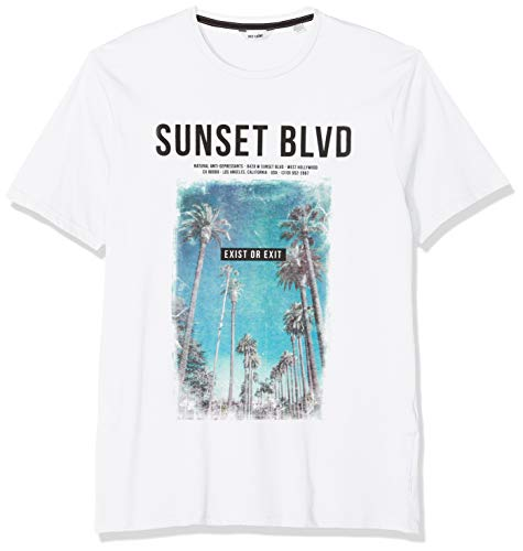 ONLY & SONS Herren Onslamani Camp Ss Fitted Tee T-Shirt, Weiß (White), Small (Herstellergröße: S) -