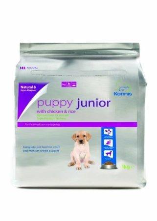 Kannis Puppy Junior Trockenhundefutter mit Huhn & Reis für kleine und mittlere Rassen - 1 kg