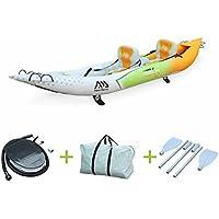 """Alice's Garden - Canoë kayak gonflable - Betta K0 biplace - Bateau 13'6"""" 4,12m de long, 2 places eaux vives ou eau de mer avec gonfleur, pagaies et sac de rangement"""