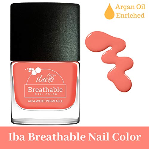 Iba Halal Care Breathable Nail Color, B14 Peach Echo, 9ml