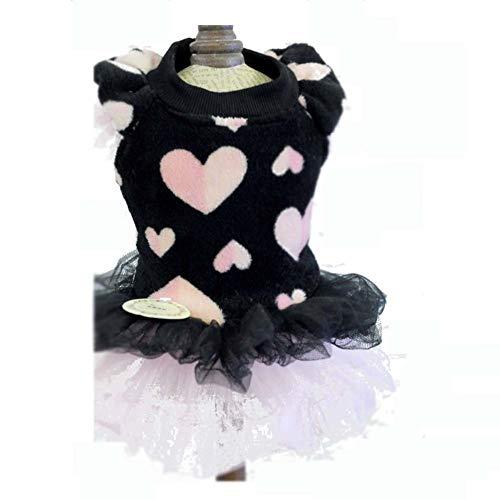 Hund Haustier Kleid, Haustier Kleid Hochzeitskleid Liebe Korallen Samt Laterne Rock Hauchhülse Mode...
