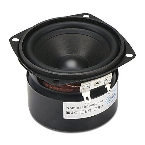DROK® 3-Zoll-15W HIFI Full Range-Lautsprecher mit 90 dB Hohe Empfindlichkeit,