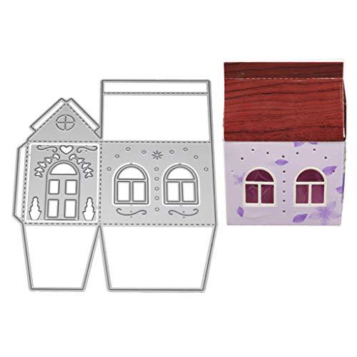 WuLi77 3D-Haus-Metall-Stanzformen für Kartenherstellung, Prägeschablone für Scrapbooking, DIY Album, Papier, Karten, Kunst, Dekoration, -