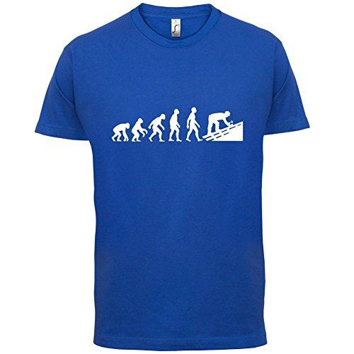 Evolution Of Man Dachdecker - Herren T-Shirt - 13 Farben Royalblau