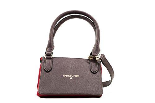 PATRIZIA PEPE BAG 2V6581A1ZL-H304 Red Nylon/Brown