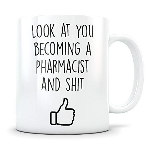 Pharmacist Graduation Gifts Pharmacy Graduates Pharmaceutical Coffee Mug for Men and Women School Students Class of 2018 Funny Grad Diploma or Academic Degree Congratulations