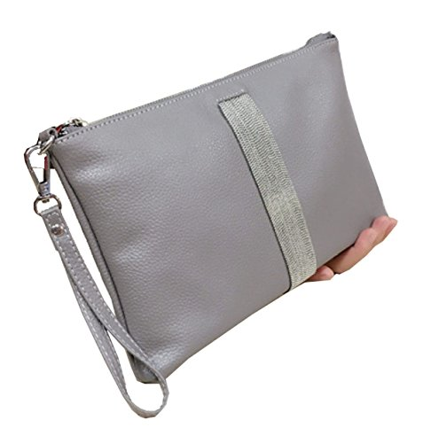 Clutch In Pelle Ms. Gray