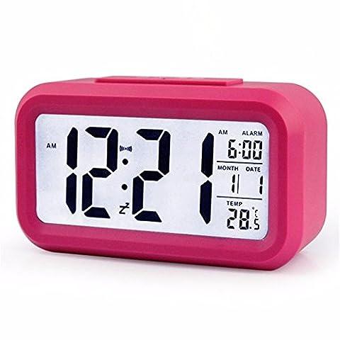 Les formulaires électroniques de l'automobile/horloge électronique/écran LCD LED Glow-in-the-clock/location de fournitures, le rouge
