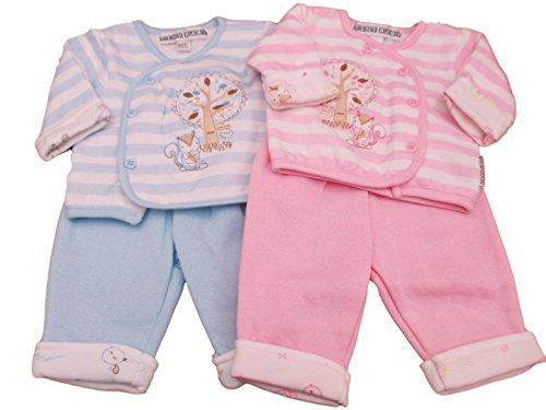Kiddiewinks BNWT Reborn Premature Preemie Baby Clothes 2 Piece Squirrel Jacket & Trousers (5-8lbs, Pink)