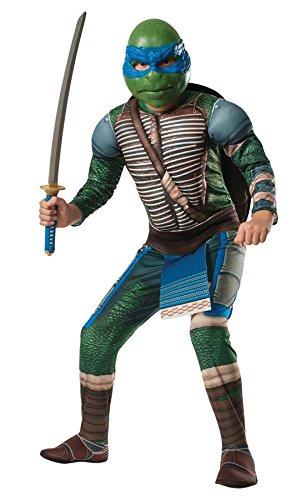 Ninja Turtles Leonardo Deluxe Kostüm für Kinder mit Polsterungen ()
