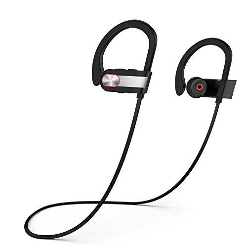 Bluetooth Kopfhörer,YXwin Sport Kopfhörer Ohrhörer mit Metall Design für Headset In Ear Noise Cancelling Wireless Kabellos Kopfhörer mit Mikrofon Stereo 4.1 für iPhone, Android Weitere –Schwarz