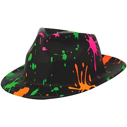 80's Kostüm Totally - Amscan 30,4x 26,4cm Totally 80's Kunststoff ID Projektionen Fedora Hüte