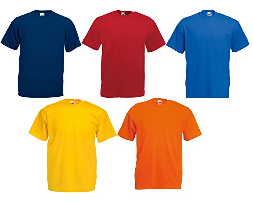 Fruit of the Loom 5er Pack T-Shirts Screen Star Full Cut Farbset I,XL -