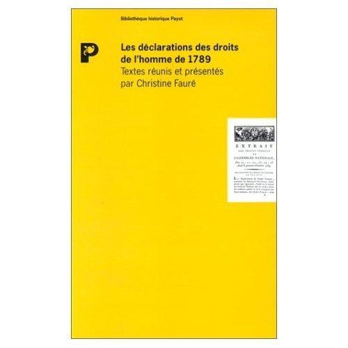 Les Déclarations des droits de l'homme de 1789