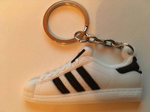 Preisvergleich Produktbild Adidas Superstar Schlüsselanhänger Weiß Sneaker Keychain White