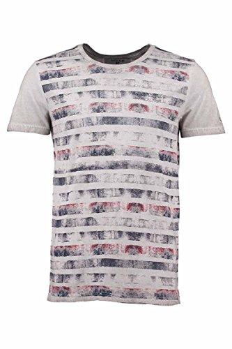 T-Shirt Herren Kurzarm bedruckt s61005–Garcia Jeans Grau