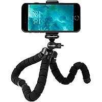 Rhodesy Trépied Portable Style Octopus pour iPhone, tout Smartphone, Camera avec Clip Universel