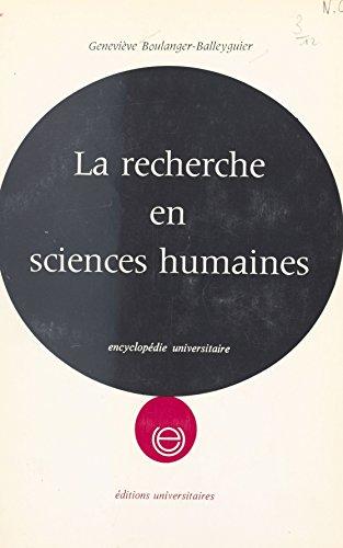 La recherche en sciences humaines
