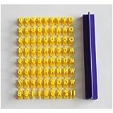 Herramienta de decoración Cake Fondant Alphabet Biscuit Letters Sello Embosser Molde Cutter Molde de Hielo (
