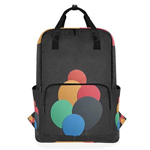 Rucksäcke für Schule, Buchtasche, Reisen, Wandern, Camping, Tagesrucksack für Jungen und Mädchen, 26,7 x 14 x 38,1 cm, für 35,6 cm Laptop (bunter Ballon) (Camo Ballons)