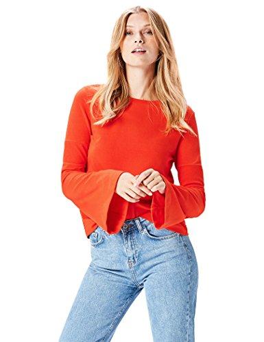 find. ER2257 t shirt damen, Rot (Red), 42 (Herstellergröße: X-Large)