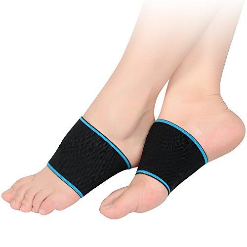 SOUMIT Fußbandage | Elastische Compression Nylon Bandage, Offenen Zehen Füße Sohlen Unterstützung Korrektur Sleeve für Sport Fitness Fußball und Schmerzlinderung (L EU42-45, Länge: 12,5CM) (High-impact-unterstützung)