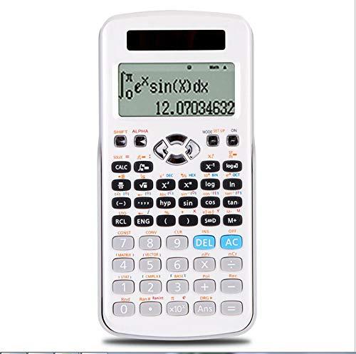 Taschenrechner Funktionsrechner PrüFung Wissenschaft Computer Technische Buchhaltung Multifunktionale Studenten Solar Dual Energy 10 + 2-Stellige Anzeige Englisches Menü SchüLerprüFung (Weiß A)