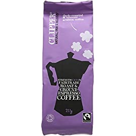 Clipper Organic Espresso ground 227 g (Pack of 4)