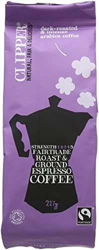 Clipper Organic Espresso ground 227 g (Pack of 4) 41BDf PPO L