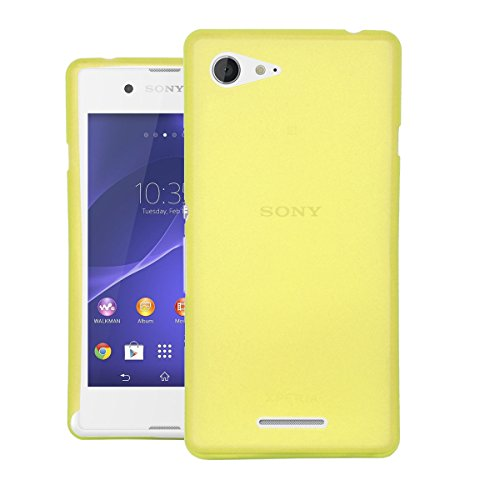 CUBIX® Sony E3 Dual Case, Hard (Semi Transparent) Super Slim Matte Back Cover For Sony Xperia E3 Dual (Yellow)  available at amazon for Rs.350