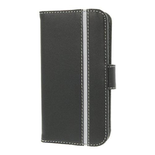 Valenta Booklet Slim Stripe Vintage Schutzhülle für Samsung Galaxy S4 braun