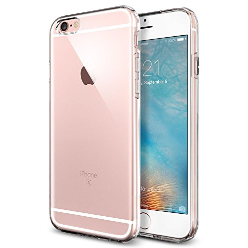 iPhone 6S Case, Ubegood Ultra-Thin [Drop Protection]Shock Resistant [Metal Electroplating Technology] Soft Gel TPU Bumper Case for iPhone 6 Case cover- Transparent