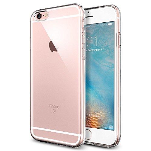 Coque iPhone 6s, Ubegood Case iPhone 6 [Ultra Mince] Coussin d'Air [Crystal Clear] Coque arrière transparente + Bumper en TPU - Transparent