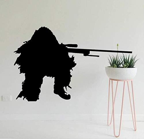 Zykang 3D Wandaufkleber Wandaufkleber Armee Fans Wohnzimmer Kunst Dekoration Military Jungen Room Decor Wandtattoo 38 * 50 Cm -