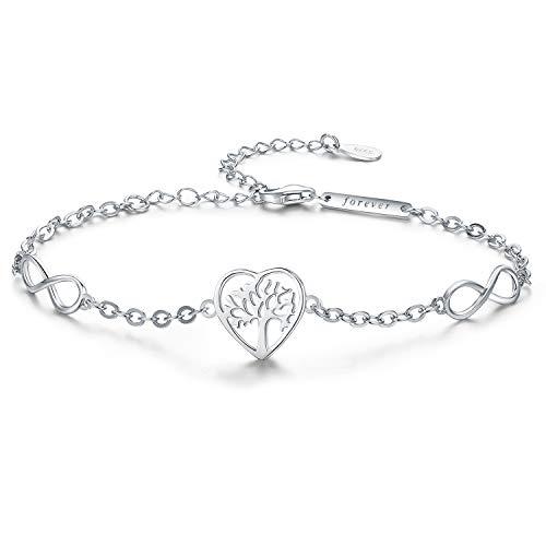Herz-gesundheit-formel (lebensbaum armband silber armbänder damen Baum des Lebens armband frauen Endlose Liebe herz Charme für Dame)