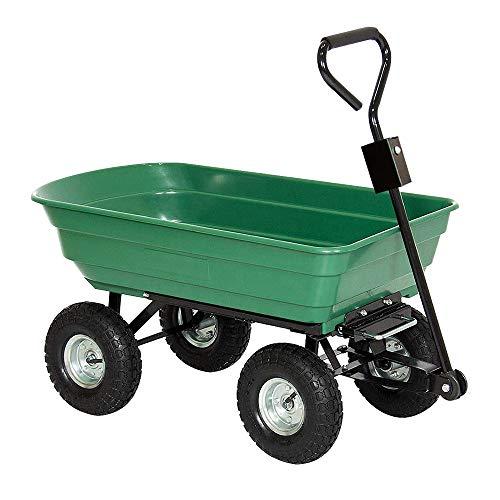 HENGMEI Gartenkarre Handwagen Gartenwagen Bollerwagen Kippfunktion Kippwagen Transportwagen 350kg belastbar (Modell B)