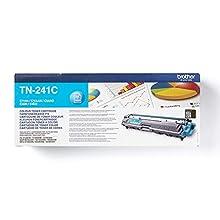 Brother TN-241C Toner Cartridge, Cyan, Single Pack, Standard Yield, includes 1 x Toner Cartridge, Brother Genuine Supplies