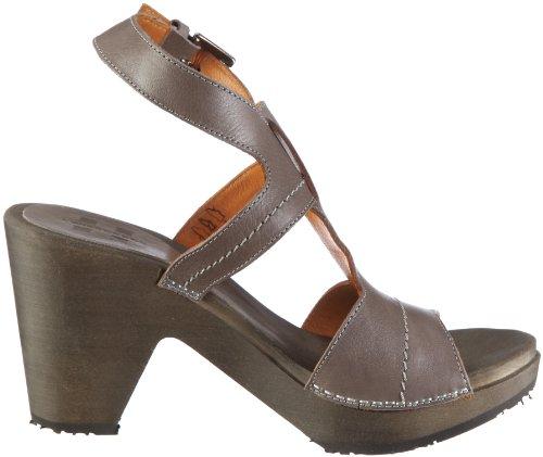 Swissoccoli Holzsandalette 2078, Chaussures femme Gris-TR-C5-3