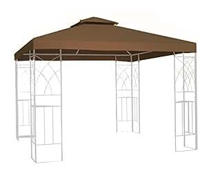 kenley toile de toit rechange imperm 233 able pour pavillon tonnelle tente 3x3m beige fr