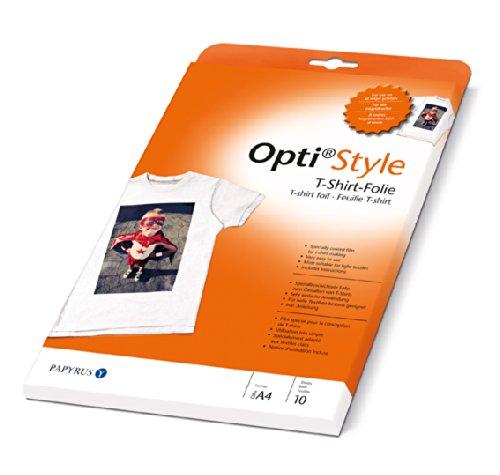 Papyrus 88082001 Inkjetfolie Opti Style T-Shirt-Folie, spezialbeschichtete Folie zum Gestalten von T-Shirts - Pro-style-folie