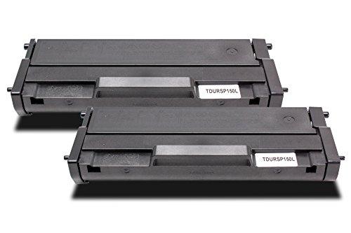 Twin Pack - 2x Toner compatibile RICOH SP150 Cartuccia Laser | 2x Nero/ca. 2600 Pagine | per Ricoh SP150sU SP150sF SP150w SP150x SP150sUW