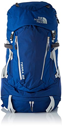 High-rise Taschen (THE NORTH FACE Terra 55 Rucksack, Sodalite Blue/High Rise Grey, XS/S)
