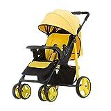 TCYLZ Cochecito de bebé Plegable y Ligero, Puede Sentarse o acostarse Plegable High Landscape Baby Child Umbrella Cart Trolley