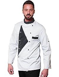 TCD GROUP Ricamo Gratuito Giacca Cuoco Chef in 30 Colori e Modelli Diversi  - No Stiro ca29ccebb571