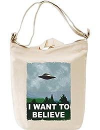 I want to believe alien attack Bolsa de mano D'a Canvas Day Bag| 100% Premium Cotton Canvas Fashion