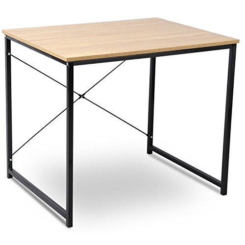 eSituro SCD0032 Schreibtisch Esstisch Computertisch Couchtisch Arbeitstisch Holz Stahl Hell Eiche