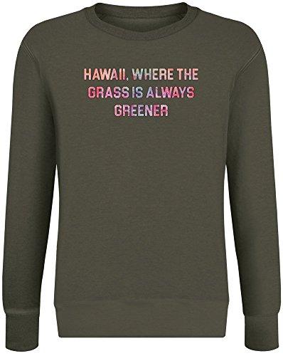 Immer grüner ist - Hawaii Where The Grass is Always Greener Sweatshirt Jumper Pullover for Men & Women Soft Cotton & Polyester Blend Unisex Clothing XX-Large ()