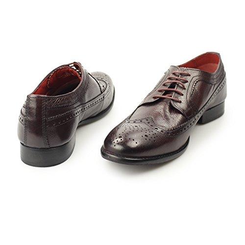 Base London Schuh Herren F/do Polieren Perforiert Leather Bordo Blau