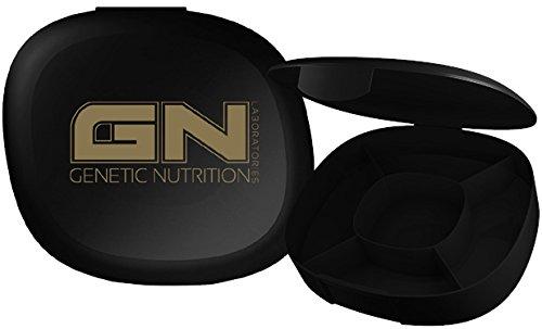 GN Laboratories Pill Box Praktische Pillendose mit 5-Fächern Tablettenbox Pillenbox Supplement