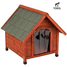 Spike Confort Torúl Caseta Puerta de Plástico para Mascotas Perros Grandes y Pequeños ...